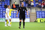 Referee Mick Russell looks on. Skybet football league two match, Tranmere Rovers v Exeter city at Prenton Park in Birkenhead, the Wirral on Saturday 20th Sept 2014.<br /> pic by Chris Stading, Andrew Orchard sports photography.