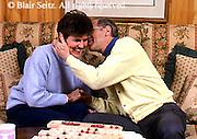 Active Aging Senior Citizens, Retired, Activities, Elderly Couple Breakfast at Home, Romantic Secrets