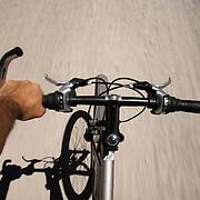 Mountain biking on Mammoth Mountain in the Eastern Sierra's.