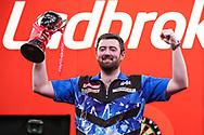 Luke Humphries, 2021 UK Open runner up during the Ladbrokes UK Open Darts 2021 at stadium:mk, Milton Keynes, England. UK on 7 March 2021.