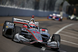 March 11, 2018 - St. Petersburg, Florida, United States of America - March 11, 2018 - St. Petersburg, Florida, USA: Will Power (12) battles for position during the Firestone Grand Prix of St. Petersburg at Streets of St. Petersburg in St. Petersburg, Florida. (Credit Image: © Justin R. Noe Asp Inc/ASP via ZUMA Wire)