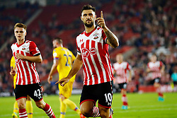File photo dated 21-09-2016 of Southampton's Charlie Austin celebrates scoring their first goal from the penalty spot during the EFL Cup, Third Round match against Crystal Palace.