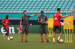 July 27, 2018 - Miami Gardens, Florida, USA - FC Bayern head coach NIKO KOVAC gives instructions to players during a practice session in preparation for an International Champions Cup match against Manchester City at the Hard Rock Stadium in Miami Gardens, Florida. (Credit Image: © Mario Houben via ZUMA Wire)
