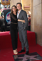 1/13/2011 Colin Firth and his wife, Lidia, at his Hollywood Walk of Fame ceremony
