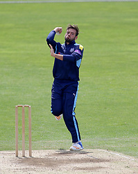 Yorkshire's Jack Leaning bowling during the Domestic One-Day Match at Headingley, Leeds.