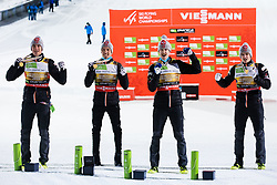 World champions Daniel Andre Tande (NOR) // Daniel Andre Tande of Norway, Johann Andre Forfang (NOR) // Johann Andre Forfang of Norway, Robert Johansson (NOR) // Robert Johansson of Norway and Halvor Egner Granerud (NOR) // Halvor Egner Granerud of Norway during medal ceremony on Day 4 of FIS Ski World Flying Championship Planica 2020, on December 13, 2020 in Planica, Kranjska Gora, Slovenia. Photo by Vid Ponikvar / Sportida