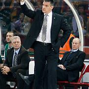 Unics Kazan's coach Evgeny PASHUTIN during their Euroleague Game 2 basketball match Galatasaray between Unics Kazan at the Abdi Ipekci Arena in Istanbul at Turkey on Thursday, October, 27, 2011. Photo by TURKPIX