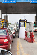 Signage on the private Noida Expressway and Toll Road, New Delhi, India