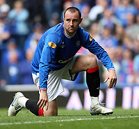 Football - Scottish Premier League -  Rangers vs Motherwell<br /> <br /> Rangers draw 3 -3 with motherwell before being presented with the Clydesdale Bank Premier League Trophy .<br /> <br /> Pictured is Kris Boyd of Rangers who may have played his last game for the Glasgow club.