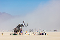 The Monumental Mammoth<br /> by: Girl Scout Gold Award Recipient Tahoe Mack, Mentor and Protector of Tule Springs Representative Sherri Grotheer, and artists Luis Varela-Rico and Dana Albany<br /> from: Las Vegas, NV<br /> year: 2019<br /> <br /> The Monumental Mammoth project will depict a life-sized steel Colombian mammoth skeleton collaged with metal found objects to tell the story of Tule Spring National Monument's past, present, and future. The sheer size and struggle of the mammoth's stance is a representation of the universal call to protect what the earth has given humanity. As a community, we are called together to protect the fossils of our past and the education of our future. Dana Albany and Luis Varela-Rico are pulling together the sleek elements of the interior steel structure and the intricate weavings to represents the distinctive community that is Las Vegas.It also tells the story of a rising feminine power, and shows all women of any age that anything is possible!<br /> <br /> URL: https://tulemammothproject.wordpress.com<br /> Contact: tulemammothproject@gmail.com<br /> <br /> https://burningman.org/event/brc/2019-art-installations/?yyyy=&artType=H#a2I0V000001AVtMUAW My Burning Man 2019 Photos:<br /> https://Duncan.co/Burning-Man-2019<br /> <br /> My Burning Man 2018 Photos:<br /> https://Duncan.co/Burning-Man-2018<br /> <br /> My Burning Man 2017 Photos:<br /> https://Duncan.co/Burning-Man-2017<br /> <br /> My Burning Man 2016 Photos:<br /> https://Duncan.co/Burning-Man-2016<br /> <br /> My Burning Man 2015 Photos:<br /> https://Duncan.co/Burning-Man-2015<br /> <br /> My Burning Man 2014 Photos:<br /> https://Duncan.co/Burning-Man-2014<br /> <br /> My Burning Man 2013 Photos:<br /> https://Duncan.co/Burning-Man-2013<br /> <br /> My Burning Man 2012 Photos:<br /> https://Duncan.co/Burning-Man-2012