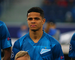 November 5, 2019, Saint-Petersburg, Russia: Russian Federation. Saint-Petersburg. Gazprom Arena. Football. UEFA Champions League. Group G. round 4. Football club Zenit - Football Club RB Leipzig. Player of Zenit football club Douglas DOS Santos, Douglas Santos (Credit Image: © Russian Look via ZUMA Wire)
