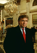 Donald Trump at the Plaza Hotel he owns.