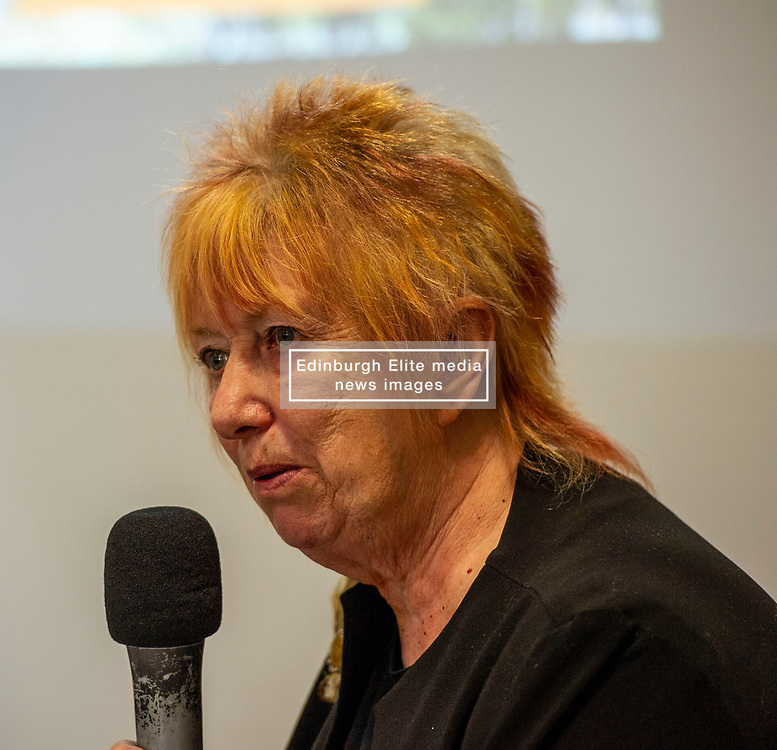 Pictured: Christine Grahame, MSP and Deputy Convenor of the Scottish Parliament, is a strong supporter of the campaign.<br /> <br /> The Campaign for Borders Rail 20th Anniversary Annual<br /> General Meeting. Opening address from Christine Grahame MSP, a regular user of the service, gave the opening address<br /> <br /> Ger Harley   EEm 8 October 2019
