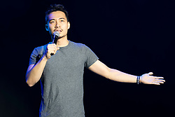 Edinburgh, Scotland, UK. 3 August 2019. The Pleasance Opening Gala launch at the Edinburgh Fringe Festival. The Pleasance venues are back for their 35th season with more than 270 shows. Pictured; Stand up Nigel Ng with his show Culture Shocked about life as a Malaysian immigrant in the UK.  Iain Masterton/Alamy Live News