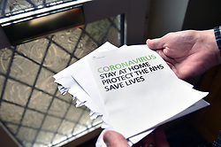 Life in coronavirus lockdown in the UK April 2020.  The government writes to all households