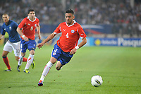 FOOTBALL - FRIENDLY GAME - FRANCE v CHILI - 10/08/2011 - PHOTO SYLVAIN THOMAS / DPPI - MAURICIO ISLA (CHI)