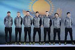 February 23, 2019 - Abu Dhabi - Foto LaPresse - Fabio Ferrari.23 Febbraio 2019 Abu Dhabi (Emirati Arabi Uniti).Sport Ciclismo.UAE Tour 2019 - Presentazione squadre.Nella foto: Astana Pro Team..Photo LaPresse - Fabio Ferrari.February 23, 2019 Abu Dhabi (United Arab Emirates) .Sport Cycling.UAE Tour 2019 - Team presentation.In the pic: Astana Pro Team (Credit Image: © Fabio Ferrari/Lapresse via ZUMA Press)