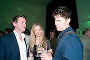 JUSTIN JONES; KIRSTEN BURROWS; JOHN BOCK, The Surreal House Barbican art gallery afterwards SURREAL DINNER at Hoxton hall. London. 9 June 2010. -DO NOT ARCHIVE-© Copyright Photograph by Dafydd Jones. 248 Clapham Rd. London SW9 0PZ. Tel 0207 820 0771. www.dafjones.com.