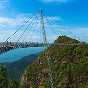 Langkawi Sky Bridge, Andaman sea and mountains, Malaysia