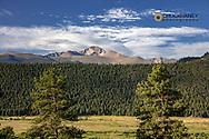 East Glacier Knob above Moraine Park in Rocky Mountain National Park, Colorado, USA