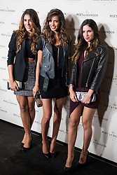 """02.12.2015, Madrid, ESP, Moet & Chandon Party, OpenTheNow, im Bild Daniela Ospina (L), Joana Sanz (C) and Melissa Jimenez attends to the // Red Carpet of the party """"OpenTheNow of Moet & Chandon in Madrid, Spain on 2015/12/02. EXPA Pictures © 2015, PhotoCredit: EXPA/ Alterphotos/ BorjaB.hojas<br /> <br /> *****ATTENTION - OUT of ESP, SUI*****"""