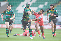 Rugby Union - 2019 / 2020 Gallagher Premiership - Northampton Saints v Sale Sharks - Franklin Gardens<br /> <br /> Northampton Saints' Shaun Adendorff evades the tackle of Sale Sharks' Manu Tuilagi.<br /> <br /> COLORSPORT/ASHLEY WESTERN