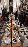 07.04.2012 Dobrzyniewo Koscielne woj podlaskie N/z swiecenie pokarmow w Wielka Sobote fot Michal Kosc / AGENCJA WSCHOD