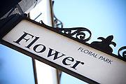 Flower Street Sign in Floral Park Santa Ana