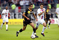 Fotball , 2005<br /> Moncef Zerka Nancy li.) gegen Juninho Lyon