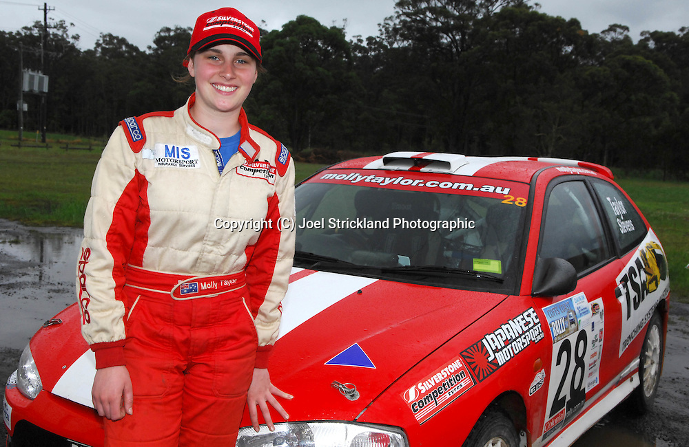 Molly Taylor after winning F2 Championship.Motorsport-Rally/2008 Coffs Coast Rally.Heat 2.Coffs Harbour, NSW.16th of November 2008.(C) Joel Strickland Photographics