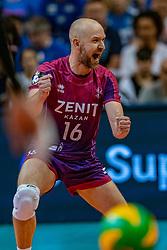 18-05-2019 GER: CEV CL Super Finals Zenit Kazan - Cucine Lube Civitanova, Berlin<br /> Civitanova win the Champions League by beating Zenit in four sets / Alexey Verbov #16 of Zenit Kazan