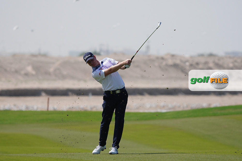 Richard McEvoy (ENG) on the 9th during Round 3 of the Oman Open 2020 at the Al Mouj Golf Club, Muscat, Oman . 29/02/2020<br /> Picture: Golffile | Thos Caffrey<br /> <br /> <br /> All photo usage must carry mandatory copyright credit (© Golffile | Thos Caffrey)