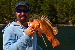 Rockfish Caught by David off San Juan Island, Washington, US