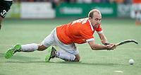 BLOENDAAL - Matthew Swann van Bloemendaal  tijdens de hoofdklasse wedstrijd hockey tussen de mannen van Bloemensaal en Rotterdam (2-3) COPYRIGHT KOEN SUYK