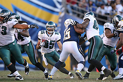 SAN DIEGO, CA - NOVEMBER 15: Macho Harris of the Philadelphia Eagles during a game against the San Diego Chargers on November 14, 2009 at Qualcomm Stadium in San Diego, California. The Chargers won 31-23. (Photo by Hunter Martin)