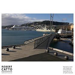 A view of Lambton Harbour, Wellington, New Zealand