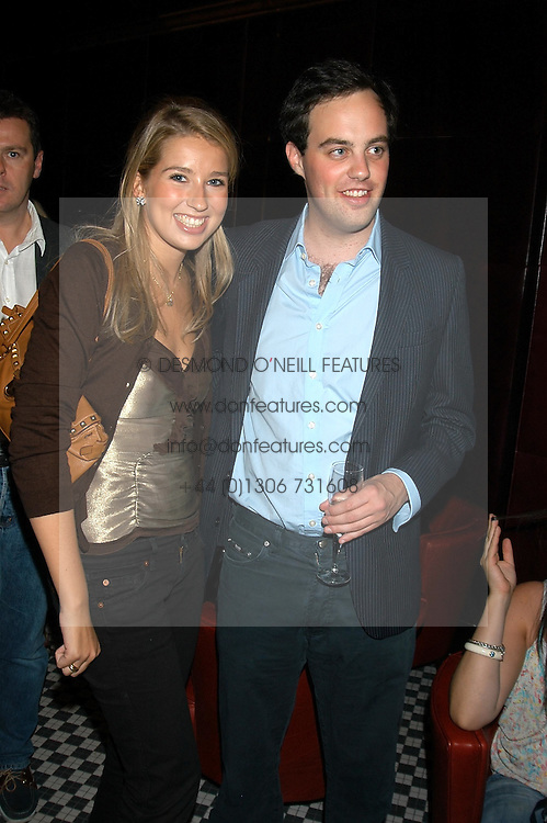 MISS ALEX FINLAY and LORD BUCKHURST at a party hosted by Frankie Dettori, Marco Pierre White and Edward Taylor to celebrate the launch of Frankie's Italian Bar & Grill at 3 Yeoman's Row, London SW3 on 2nd September 2004.