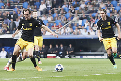 May 2, 2017 - Madrid, Spain - Isco (midfielder; Real Madrid), Diego Godin (defender; Atletico Madrid) watched the Champions League, semifinal match between Real Madrid and Atletico de Madrid at Santiago Bernabeu Stadium on May 2, 2017 in Madrid, Spain (Credit Image: © Jack Abuin via ZUMA Wire)