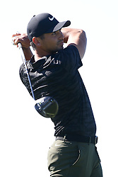 January 26, 2017 - San Diego, California, United States - Dustin Johnson tees off the 4th hole during the first round of the Farmers Insurance Open at Torrey Pines GC. (Credit Image: © Debby Wong via ZUMA Wire)