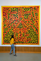 Painting Untitled 1982 by Keith Haring at the Museum Boijmans van Beuningen in Rotterdam The Netherlands