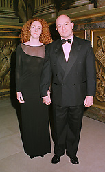 MISS REBECCA WADE and actor ROSS KEMP, at a banquet in Surrey on 12th November 1998.MLX 80