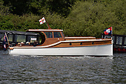 Henley on Thames, England, United Kingdom, 3rd July 2019, Henley Royal Regatta  Motor Launch, Pangbourne, on Henley Reach, [© Peter SPURRIER/Intersport Image]<br /> <br /> 11:56:36 1919 - 2019, Royal Henley Peace Regatta Centenary,