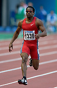Ato Boldon of Trinidad and Tobago in the first round of the 100 meters in the IAAF World Championships in Athletics at Stade de France on Sunday, Aug, 24, 2003.
