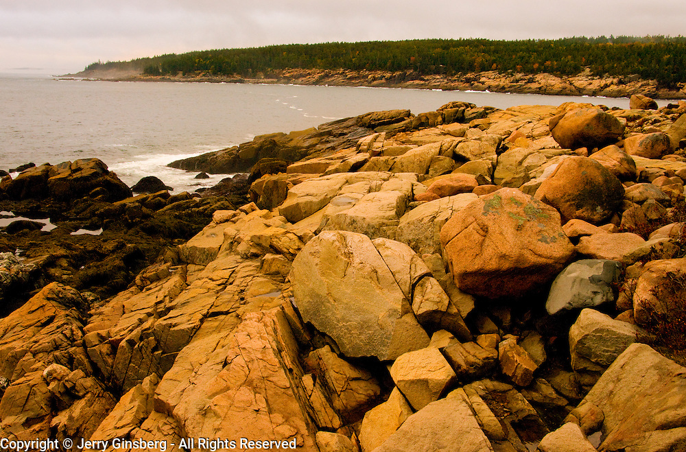 Rockbound Maine coast in Acadia National Park.