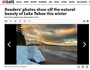 """Beauty of Lake Tahoe<br /> Image: """"Vanishing Beach Sunset"""""""