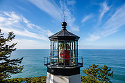 Cape Meares Lighthouse, built 1890, is now inactive. Cape Meares State Scenic Viewpoint, Oceanside, Oregon coast, USA.