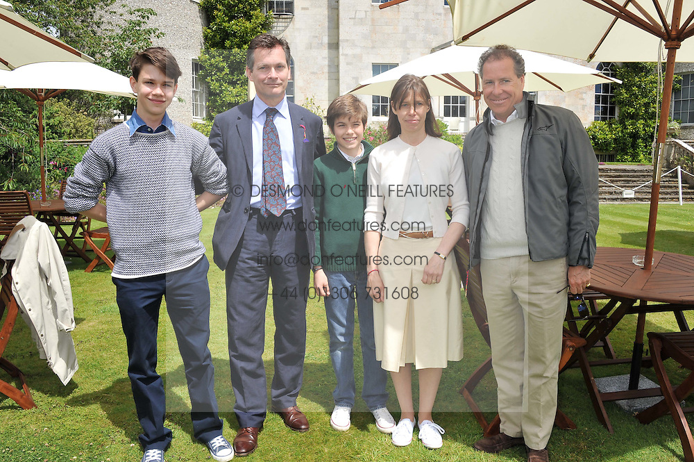 left to right, DANIEL & LADY SARAH CHATTO and their sons left SAMUEL and right ARTHUR and VISCOUNT LINLEY at a luncheon hosted by Cartier for their sponsorship of the Style et Luxe part of the Goodwood Festival of Speed at Goodwood House, West Sussex on 1st July 2012.