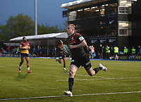 Rugby Union - 2021 Greene King IPA Championship - Saracens vs Ampthill - StoneX Stadium<br /> <br /> Saracens' Ali Crossdale scores his sides sixth try.<br /> <br /> COLORSPORT