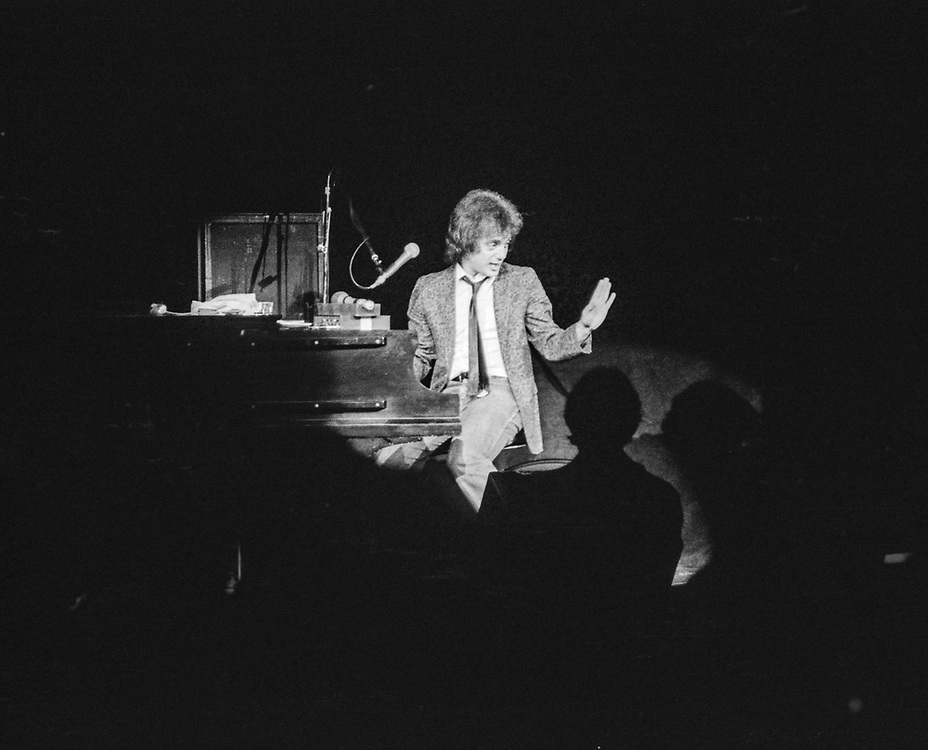 Billy Joel performing in the late 1970s, Columbia, Missouri.