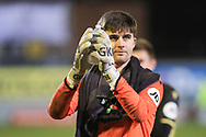 Marine goalkeeper Bayleigh Passant (1) during the The FA Cup match between Marine and Tottenham Hotspur at Marine Travel Arena, Great Crosby, United Kingdom on 10 January 2021.